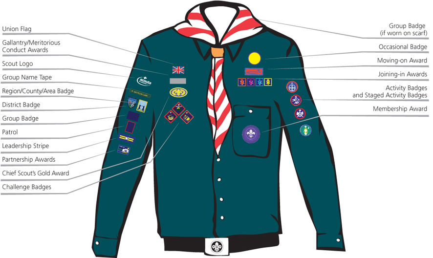 7th Lichfield Scouts Scouts Badges